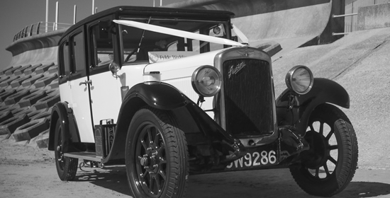 Vintage Austin Burnham Wedding Car